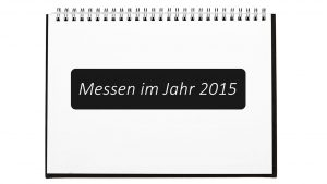 Messen 2015 in einem Ringbuch