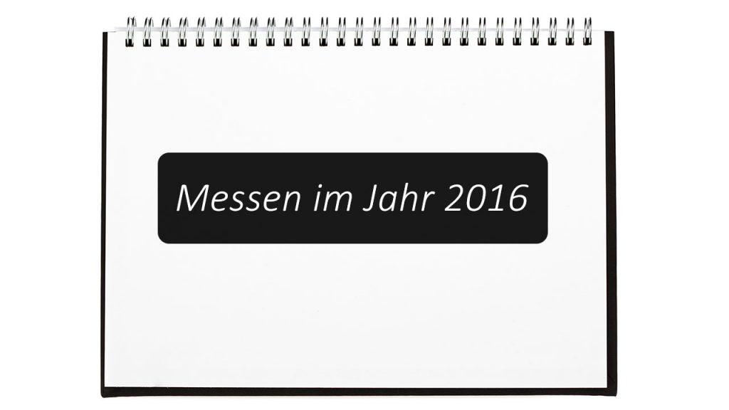Messen 2016 in einem Ringbuch