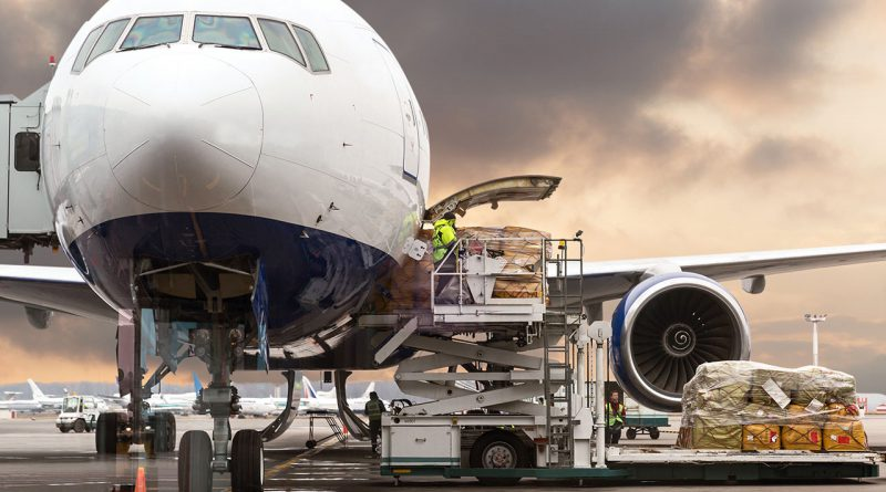 Luftfracht ist Transportlogistik.