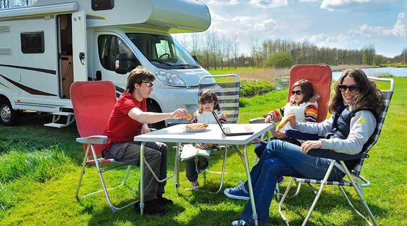 Camping mit dem Wohmobil - Freizeit und Reisen.