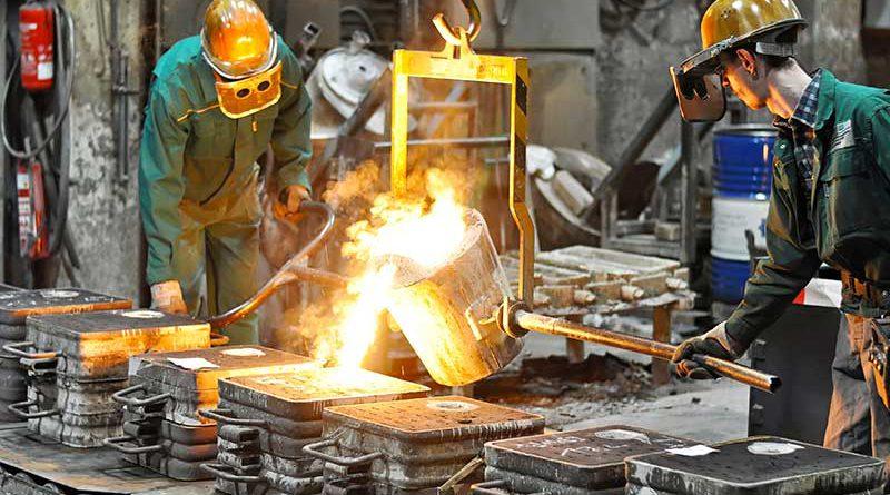 Industrielle Metall Gießerei.