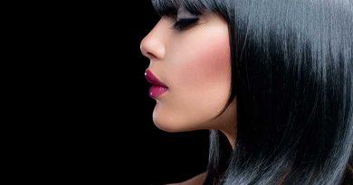 Schönheit, Haare, Lippen und Kosmetik.