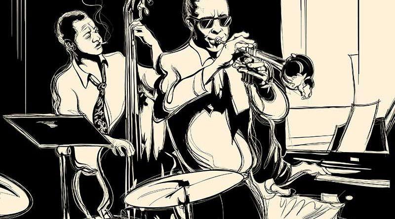 Jazz - Saxophon, Kontrabass, Schlagzeug, Flügel.