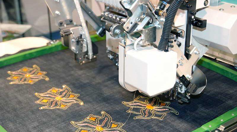 Textilien, Textilienverarbeitung & Stickerei.