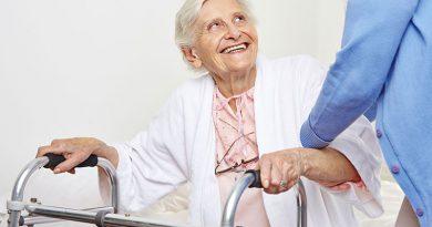 Seniorenbetreuung und Altenpflege.