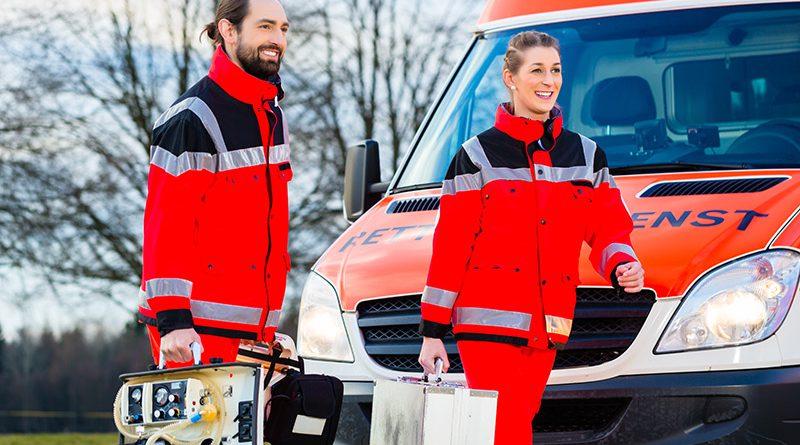 Rettungsdienst, Krankenwagen, Notfalleinsatz.
