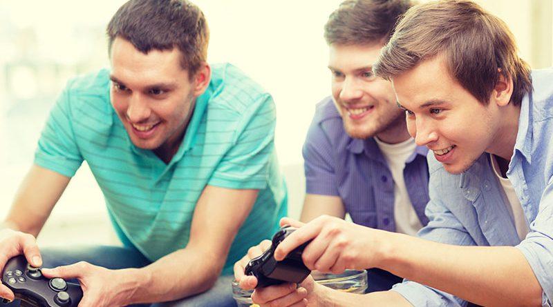 Gaming - Freunde zocken zuhause.
