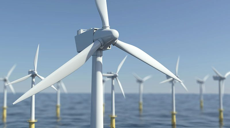 Onshore und Offshore Windindustrie Thema Stromspeicherung.