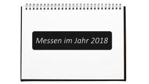 Messen 2018 in einem Ringbuch