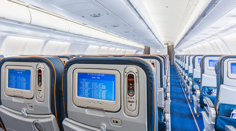 Innovative Flugzeug-Innenausstattung.