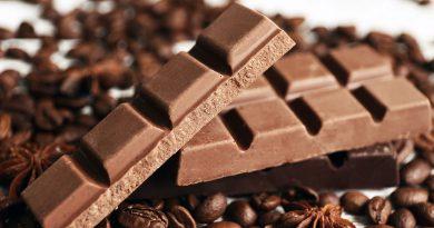 Schokolade - Schokoriegel mit Kakao und Kaffee.