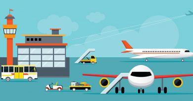 Flughafenausrüstung - Sicherheitsmaßnahmen in der Flughafenindustrie.