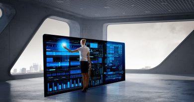 Digitalisierte und vernetzte Industriewelt. Transformation von Industrie zur Vernetzung.