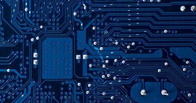 Aufbau eines Mikroelektronik Chips.